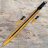 "Best Sword Set With Golds - 27"" Gold 2 Tone Ninja Sword Full Tang Review"