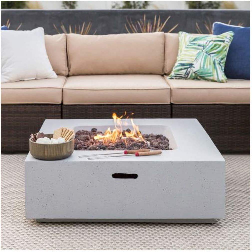 B07JJJQL4B 35x35in 40,000 BTU Square Propane Fire Pit Table 61H8oHQnezL.SL1100_