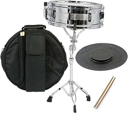 Nueva Estudiante Snare Drum Set con funda, de incienso, soporte y Pad de práctica, Kit: Amazon.es: Instrumentos musicales
