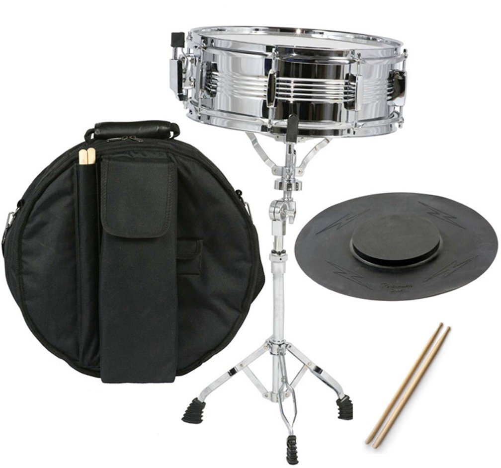 New Student Snare Drum Set with Case, Sticks, Stand and Practice Pad Kit by Gammon Percussion