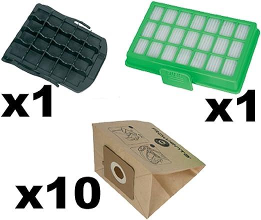 Rowenta zr007001 Juego para Power Space ro23 X X accesorios para aspiradoras bolsas para aspiradora, filtro para aspirador, 3 L), color negro/marrón/verde: Amazon.es: Hogar