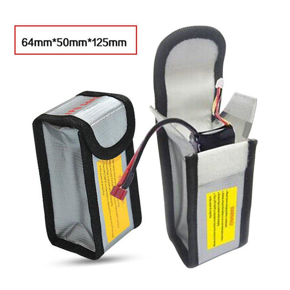 Stoccaggio Borsa per Batteria LiPo 125 x 64 x 50 mm, 2 PCS Suncentech Batteria Borsa Ignifugo per DJI Spark
