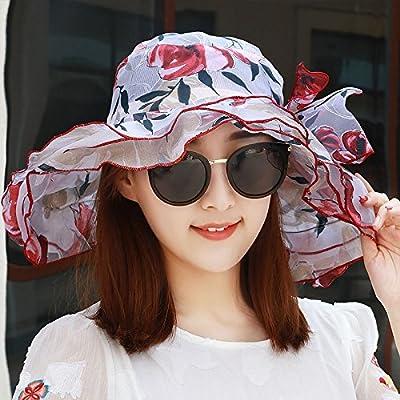 Xing Han Chapeau De Plage Chapeau Femme Été Visière Marée Féminine Été Chapeau De Soleil Féminin Crème Solaire Pliable Uv Plage Cap Un Vin Rouge