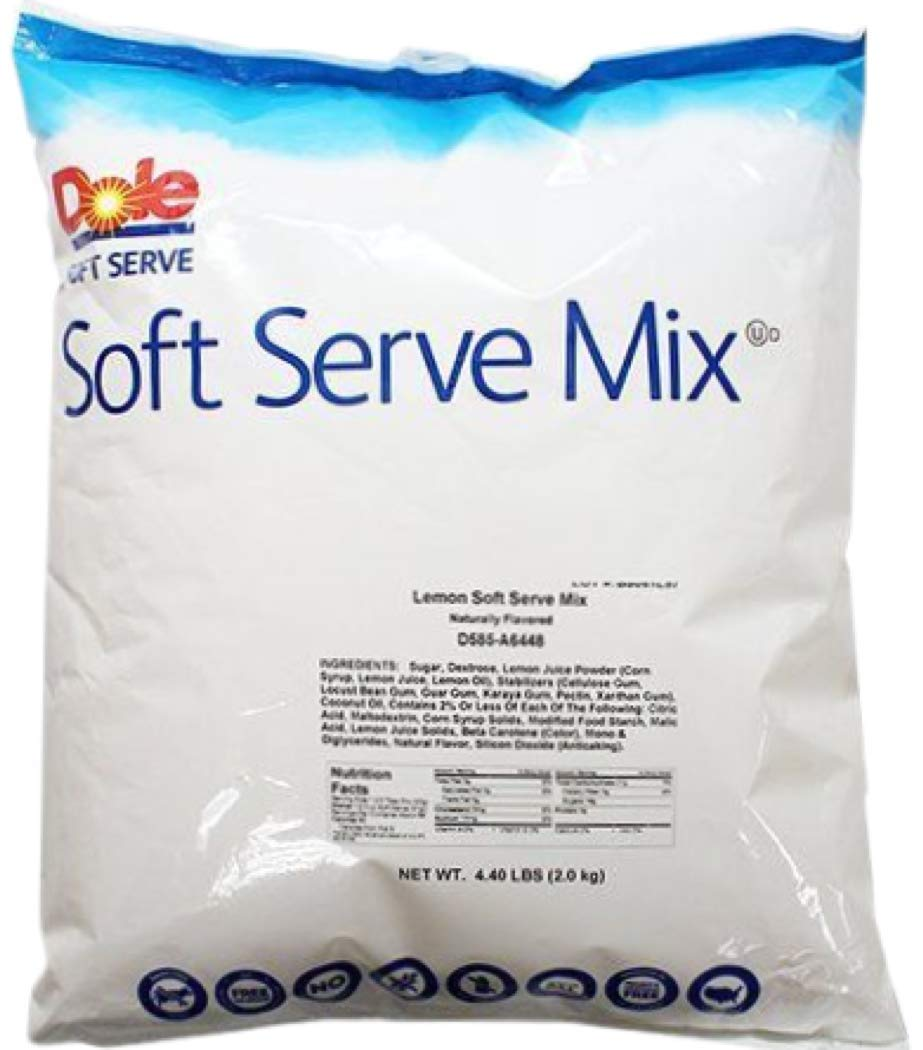 Dole Lactose-Free Soft Serve Mix 4 Flavor Variety Pack, 1 of Each Pineapple, Raspberry, Strawberry, and Lemon with By The Cup Rainbow Sprinkles by By The Cup (Image #5)