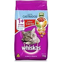 Ração Whiskas para Gatos Adultos Castrados Sabor Carne - 1kg