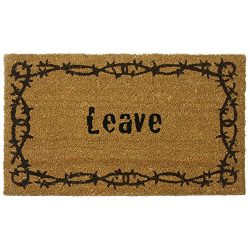 Rubber-Cal Leave Unwelcome Mats, 18 x
