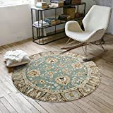 Decorative rugs,Round,Retro pattern,Runner area,Sofa side,Hanging basket blanket,Children mat Home Bedroom,Desk computer chair mat -A diameter150cm(59inch)
