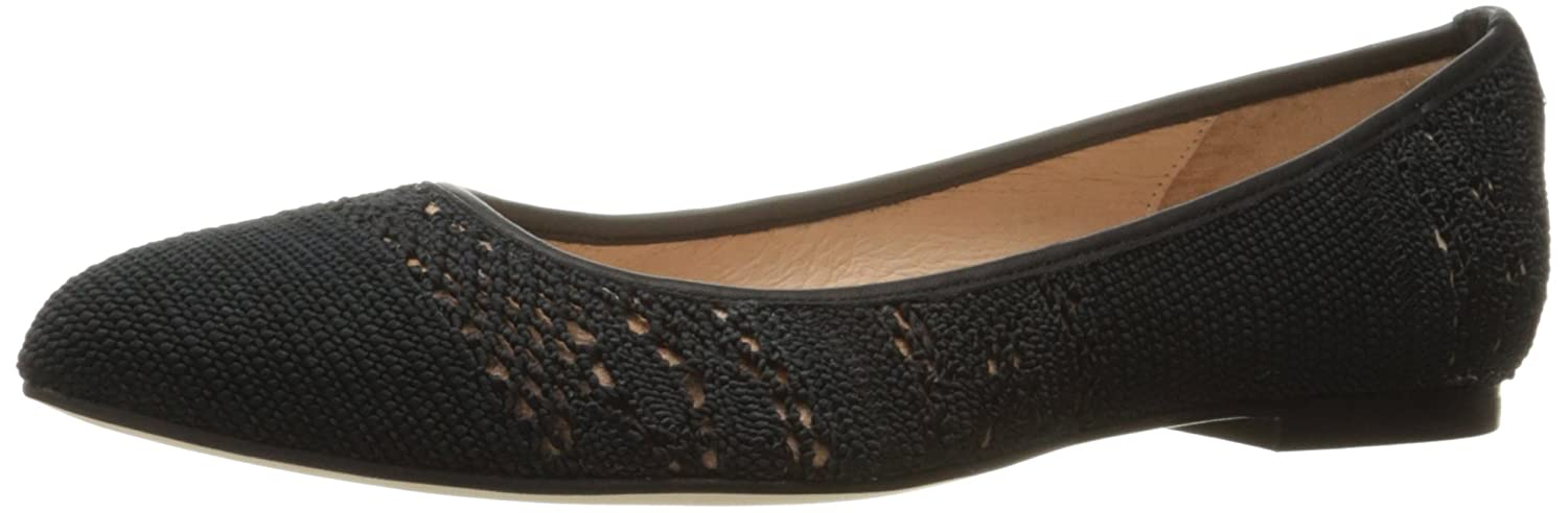 French Sole FS/NY Women's Well Ballet Flat B01N6S7QCO 9.5 B(M) US|Black Macrome