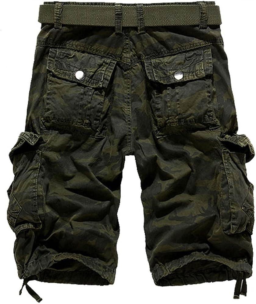 Pantalones Cortos de Camuflaje de Carga para Hombres Bolsillos ...