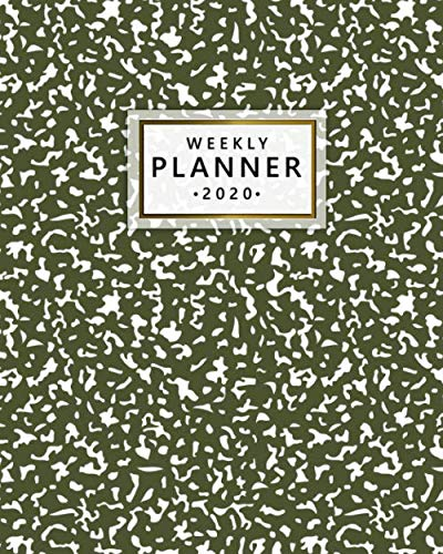 2020 Weekly Planner: Monthly Weekly Daily Views with To-Do's, Funny Holidays & Inspirational Quotes, Vision Boards, Notes & More | 2020 Organizer, Agenda & Diary | Pretty Olive Green Abstract Print ()