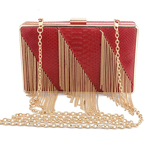 Bag Clutch Party Handbag Bag Bags Red Elegant Evening Chain Clutch Women's Bag Shoulder Bag Wedding ptw8xqO