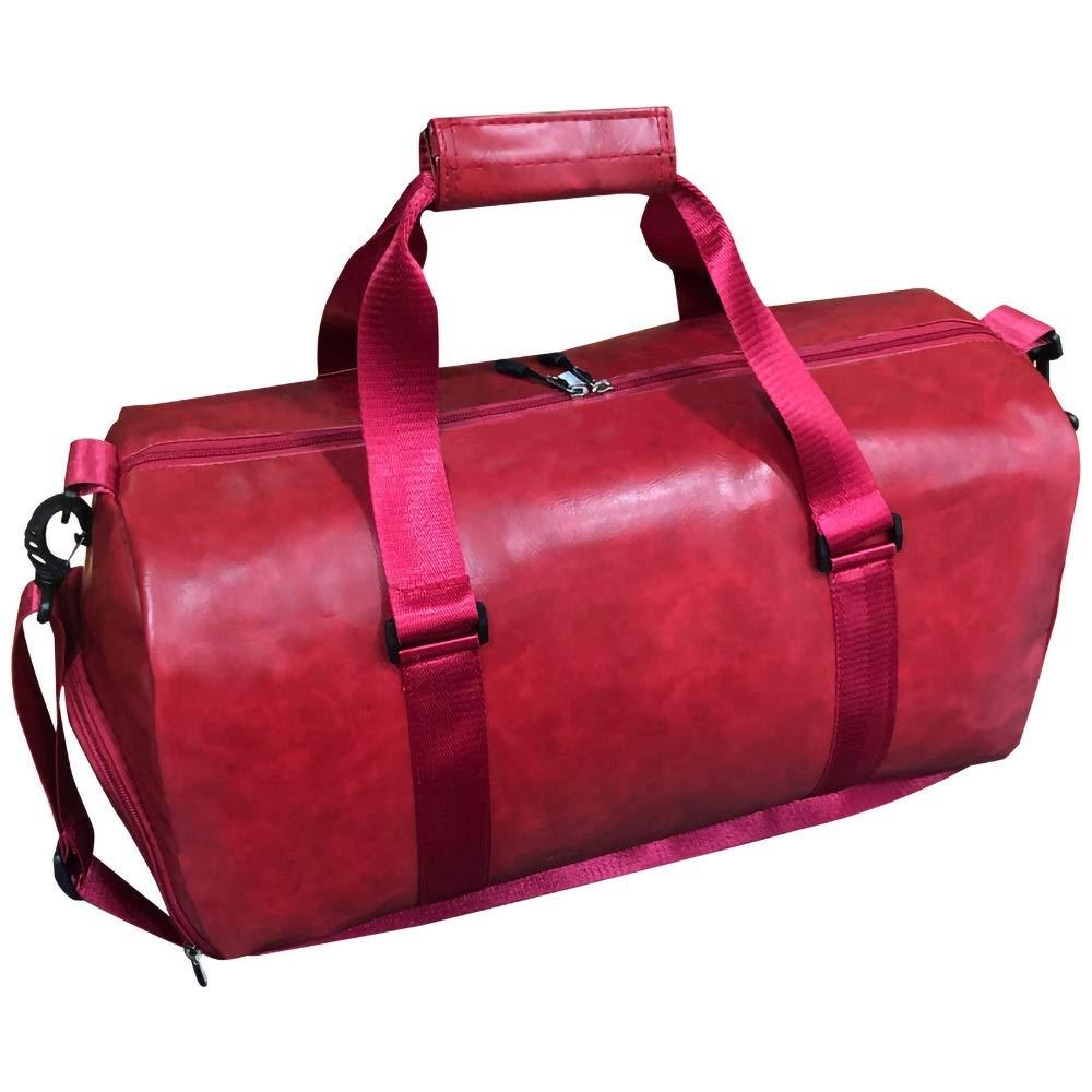 最高 本革旅行ウィークエンダー一晩ダッフルバッグジムスポーツ荷物トートダッフルバッグ用男性&女性 Red B07QPK1F3N Red B07QPK1F3N Red Red, 知育玩具の毎日元気:898b0cd2 --- arianechie.dominiotemporario.com