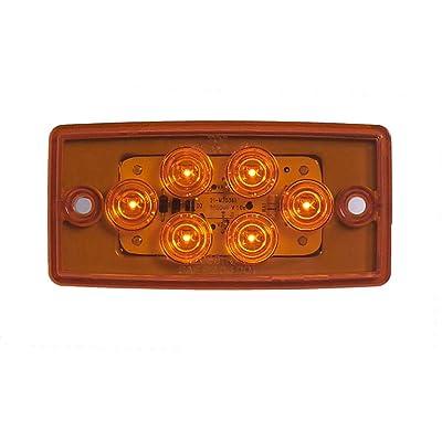 Maxxima M20361Y 6 LED Amber LED Mount Cab Marker Light: Automotive
