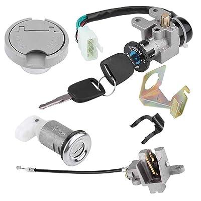 New 50CC Ignition Switch Key Lock For GY6 50cc Jonway Taotao Roketa Metal Plastic Silver Black: Automotive