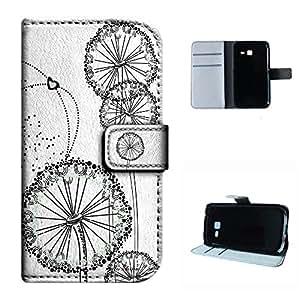Galaxy Trend Duos II S7572 case, SoloShow(R) Samsung Galaxy Trend Duos II S7572 4.0 inch case Deluxe High Quality PU Leather Wallet Flip case Freedom of dandelion Pattern (White)