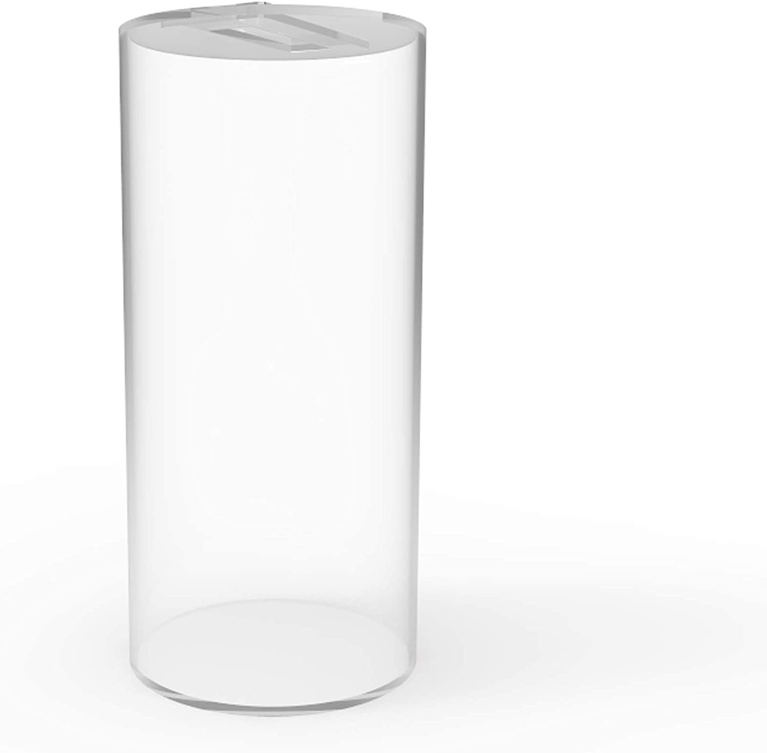 FixtureDisplays Eco-Container Acrylic Cylinder Fish Tank with Small Removable Lip 15703-FBA