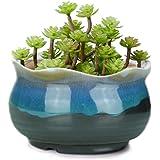 """VanEnjoy 5"""" Large Ceramic Succulent Pot, Multicolor Colorful Flowing Glazed, Indoor Home Décor Cactus Flower Bonsai Pot…"""