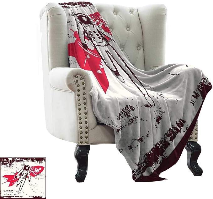 BelleAckerman Manta peluda vintage, patrón con pájaros y jaulas, ilustración de libertad y escapar, tela suave verde menta y marrón para sofá de fácil cuidado, poliéster, Color07, 60