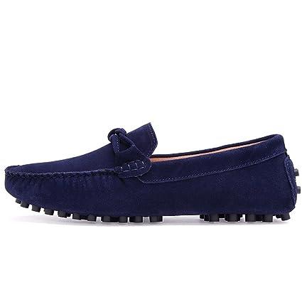 Xiazhi-shoes, Conducción de los Hombres Penny Mocasines Low-Top Suede Cuero Genuino