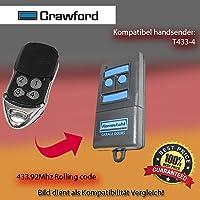 Crawford t433–4compatible emisor Replacement el mando a distancia