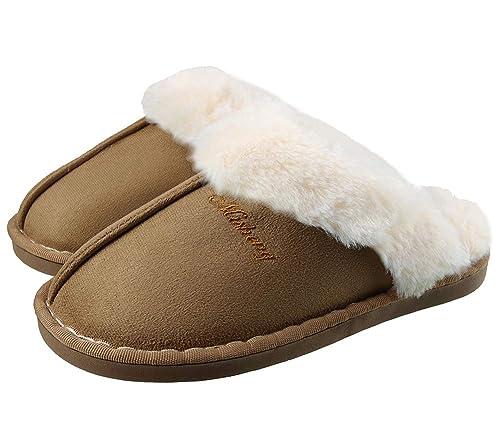 Pantofole da casa per Uomo Donna Peluche Memory Foam Scarpe da Casa Morbido Antiscivolo Caldo Comode Invernali Pantofole per Interno Esterno