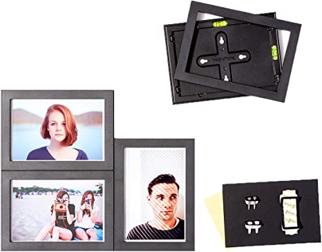 Amazon Com Magnaframe Magnetic Collage Picture Frames For Classic 4x6 Size Photos Photo Gallery 4 Pack Black