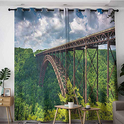 XXANS Blackout Curtains,USA,Canyon Rim Visitor Center Photo,Great for Living Rooms & Bedrooms,W84x72L