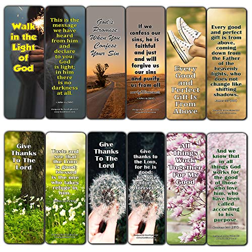 God is Good Bible Verses Bookmarks (12 Pack) - Collection of Inspirational Bible Verses About God's Goodness (Best Bible Verses About Forgiveness)