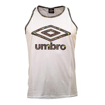 Umbro Baradis Logo Tank Camiseta sin Mangas, Hombre, Blanco, XS