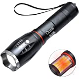 Ousili Led Aluminum Flashlight, Super Bright 1600 Lumens output with Lanyard, including Batteries,Best Tools for Camping, Hiking, Hunting, Backpacking, Fishing, BBQ and EDC