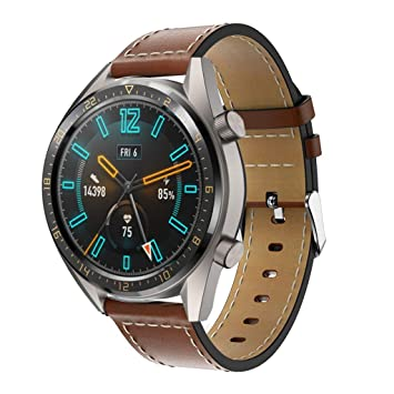 12shage 22 mm Echtleder Ersatzarmband Uhrenarmband compatible con ...