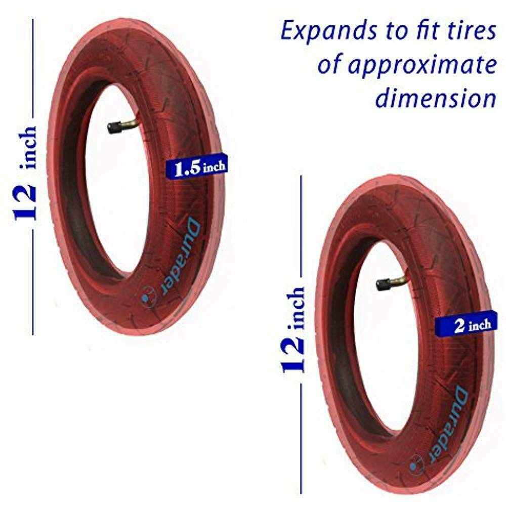 2X Inner Tube Replacement Parts for Thule Urban Glide 2, Glide 2, Urban Glide 2 Double Jogger Baby Children's Strollers Tires Wheels 12'' 16'' inches Bent Straight Valve (12'' Bent Valve)