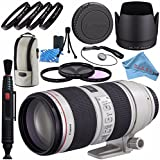 Canon EF 70-200mm f/2.8L IS II USM Lens 2751B002 + 77mm 3 Piece Filter Kit + 77mm Macro Close Up Kit + Lens Cleaning Kit + Lens Pen Cleaner + Fibercloth Bundle