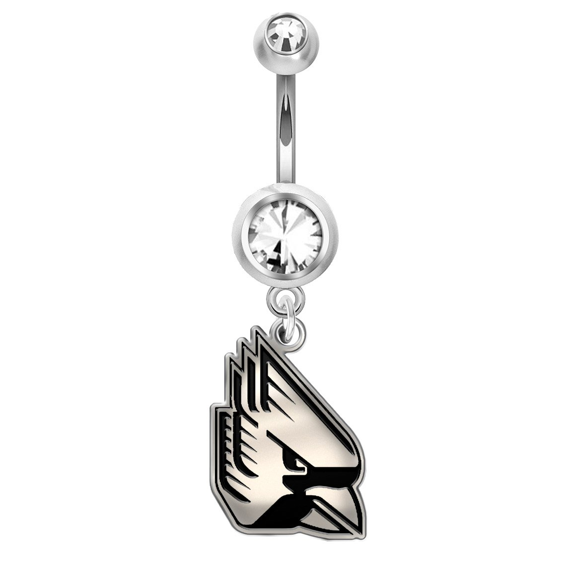 Ball State Cardinals Belly Navel Ring in Stainless Steel and Sterling Silver