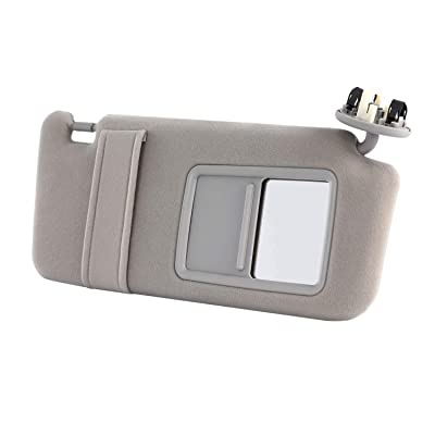 Orion Motor Tech Camry Sun Visor Right, Fit for 2007 2008 2009 2010 2011 Toyota Camry Passenger Sun Visor Grey with Sunroof and Light, 04002-30306-B0: Automotive