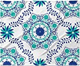 KESS InHouse Anneline Sophia ''Let's Dance Blue'' Teal Aqua Fleece Baby Blanket, 40'' x 30''