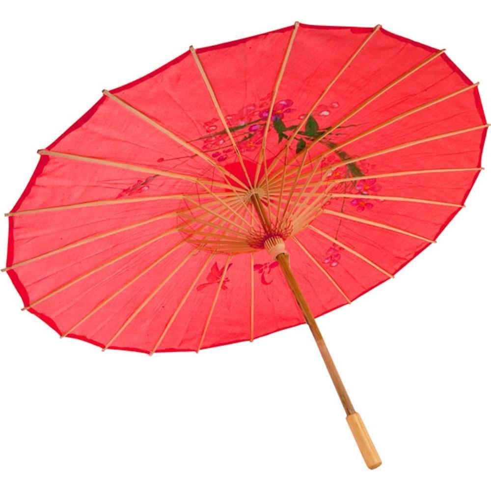 GONO Chinese Oriental Fabric Umbrella Parasol 32(Blue)