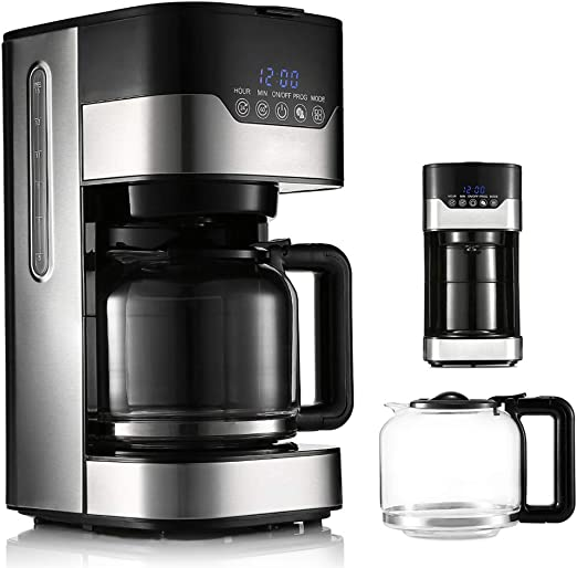 MAIZOU Cafetera con Capacidad para 1.5 litros con Olla de Vidrio ...