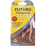 Futuro Ultra Sheer Pantyhose for Women, Brief Cut, Lace Panty - L, Nude