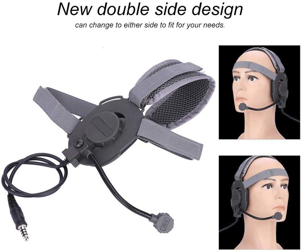 Alomejor Tactique Casque Casque Anti-Bruit Tactique avec Coiffe pour Evo III Z029