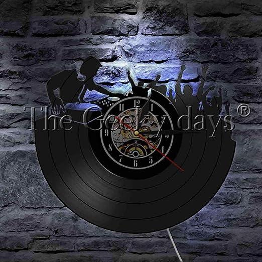 SSCLOCK DJ Record Player Tocadiscos Vinilo Reloj de Pared ...