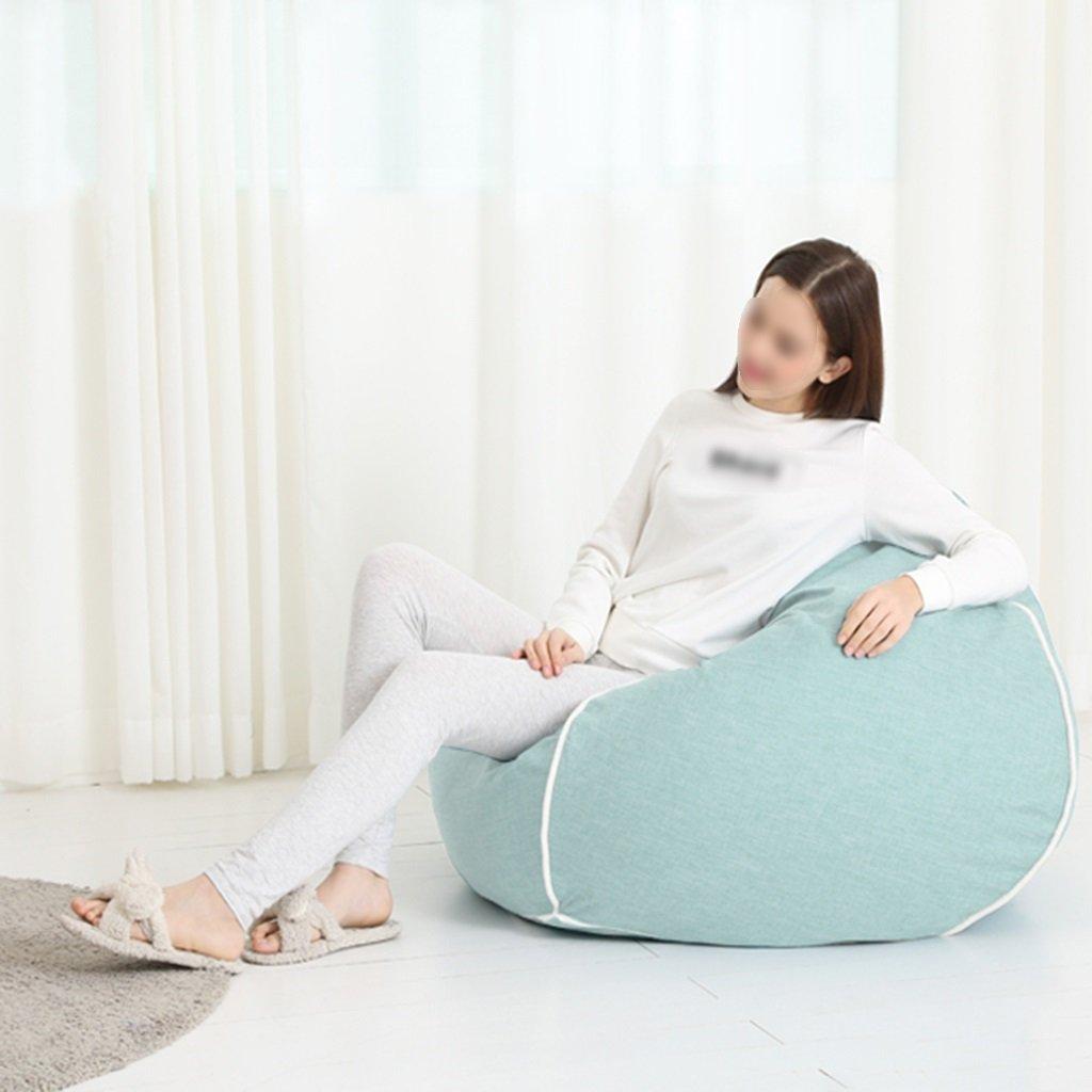 Chaise longue de salon de chambre à coucher de sac d'haricot de sofa de chaise simple démontable lavable 80 * 90cm