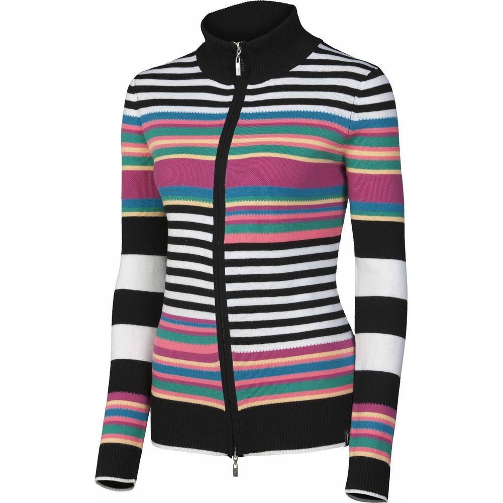 NEVE Women's Colby Full Zip Sweater, Multi, Large