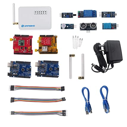 Dragino LoRa IoT Development Kit 915Mhz, Lora Gateway LG01, LoRa Shield,  LoRa GPS Shield, for Long Range Irrigation Systems, GPS Tracker