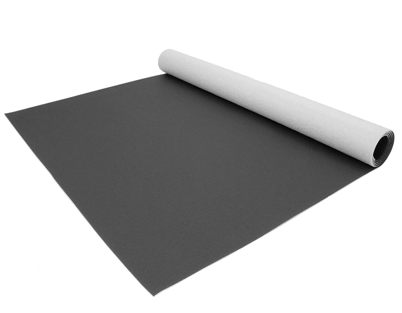 Uni Anthrazit PVC Boden Meterware Vinyl Einfarbig Schwer Entflammbar PVC Bodenbelag EXPOTOP Profi Vinylboden 2,00m x 2,50m