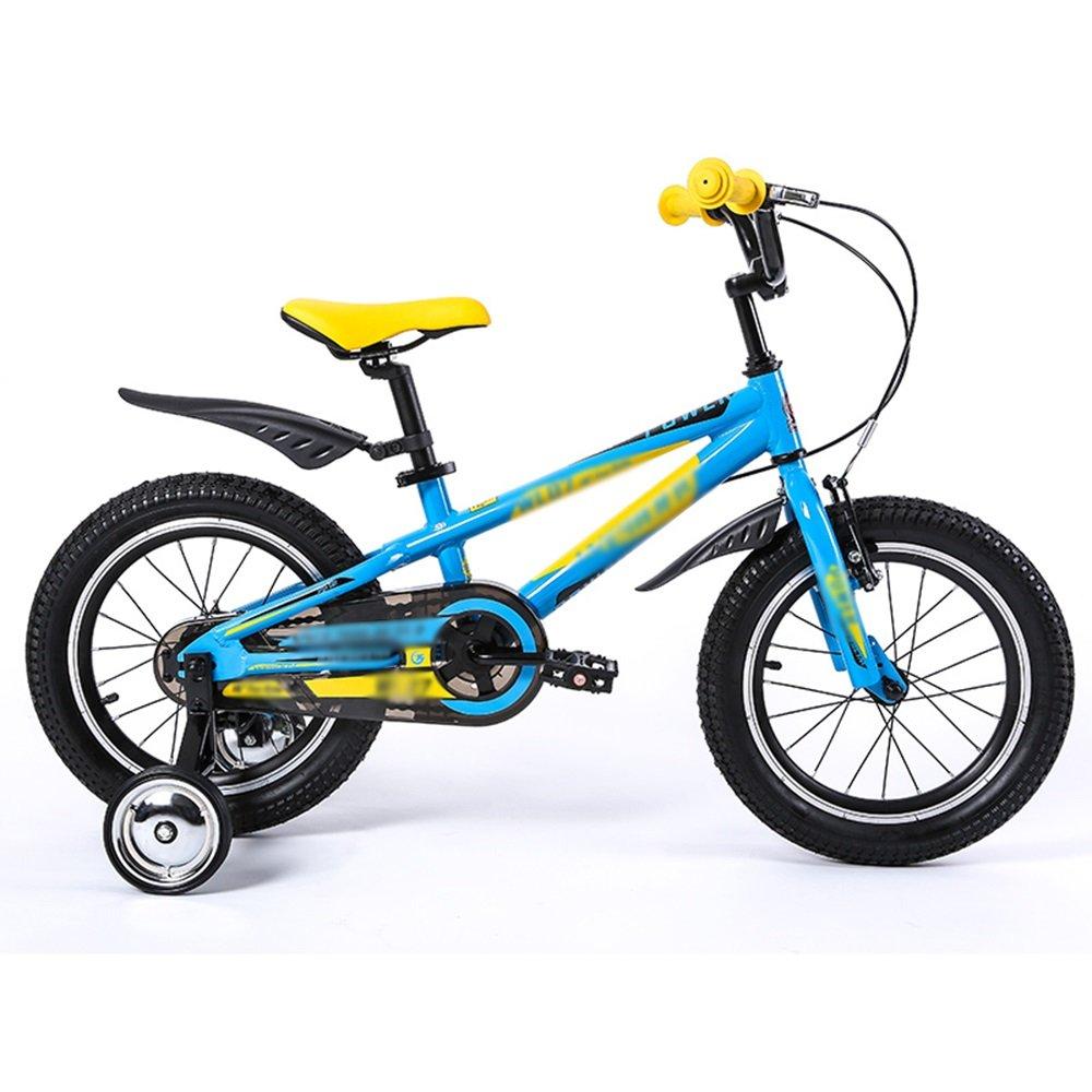 HAIZHEN マウンテンバイク 子供用自転車16インチ青緑ハンドルバー高さ調節可能 新生児 B07CCH9BV4青