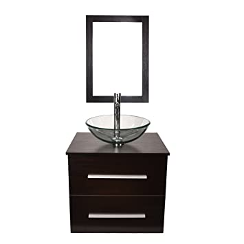 24 Modern Bathroom Vanity Vessel Sink Combo With Mirror Modern