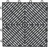 Gladiator GarageWorks GAFT04DTPC Charcoal Drain Floor Tile,  4-Pack