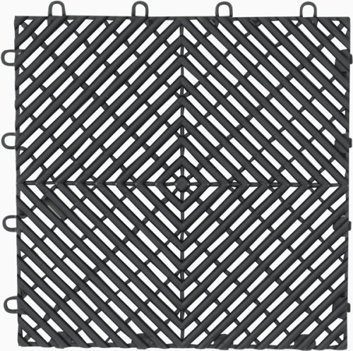 (Gladiator GAFT04DTPC Charcoal Drain Floor Tile,  4-Pack)