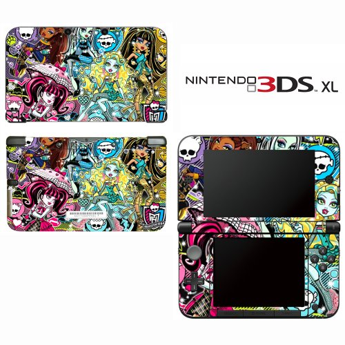 Monster High Ghoul Skull Decorative Video Game Decal Cover Skin Protector for Nintendo 3DS XL by Decals Plus